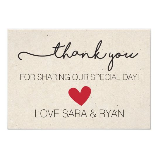 simple rustic wedding thank you card thank you cards gifts pinterest shops click and