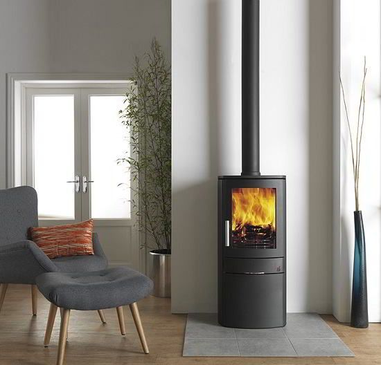 The ACR Neo 1C stove is an elegant contemporary stove with a door underneath allowing for storage of tools