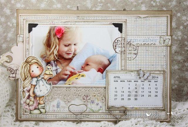 DT Maja Design ~ Flere kalendersider med Maja Design papirer ♥