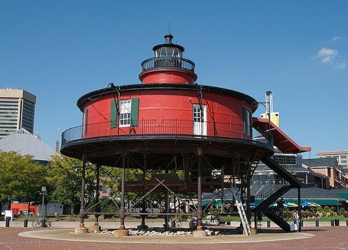 Seven Foot Knoll Light, Maryland, USA