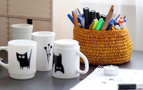 Lag dine egne svart-hvitt-krus - IKEA