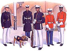 Marine corps dress white trousers