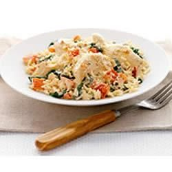 Philly Creamy Rice Chicken And Spinach Dinner Allrecipes Com Whip Up This One