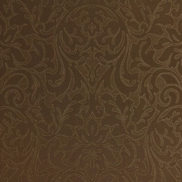 Nenufar Minor 9 - brun - Jacquard - Dekorationsstoffer med ornamentmønster - Ekstrabrede dekorationsstoffer - stofkiosken.dk