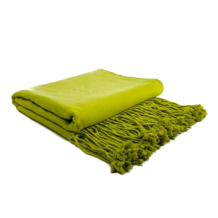 Bamboo Throw - Chartreuse