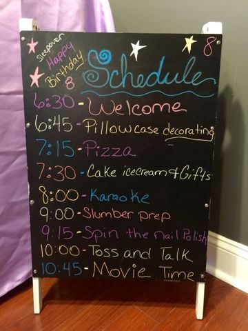 What a great way to stay on track at any party especially a sleep over birthday party.