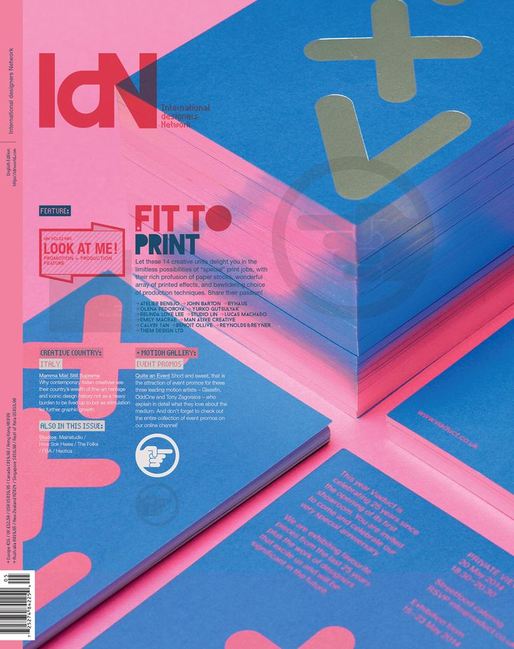 IdN v22n5: Promotion & Production Feature on Behance