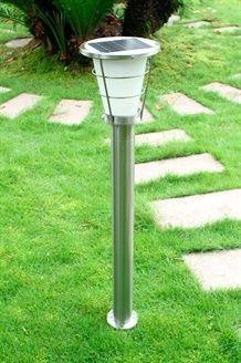 Candeeiro de pé solar LED<BR>Prateado