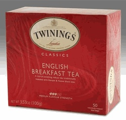 This tea in the morning with half & half is lighter on my stomach than coffee and sooooo delicious!!! Twinings English Breakfast 50 Tea Bags...In 1972 Twinings became the first tea company to win a Queen's Award for Export. Every package of Twinings tea bears Her Majesty's seal.