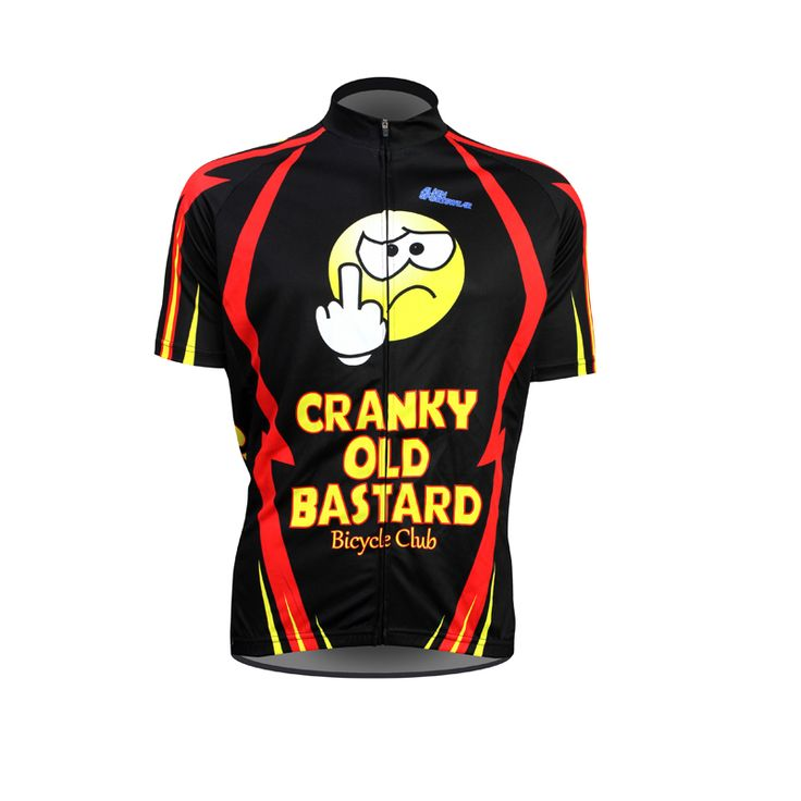 New Cranky Old Bastard Alien SportsWear Mens Cycling Jersey Cycling Clothing Bike Shirt Size 2XS TO 5XL