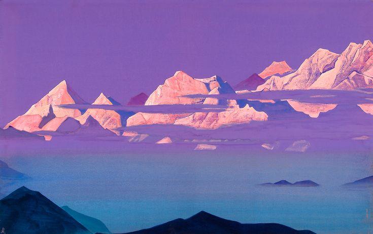 Н. Рерих. Гималаи. Розовые горы. 1933. Музей Н. Рериха, США