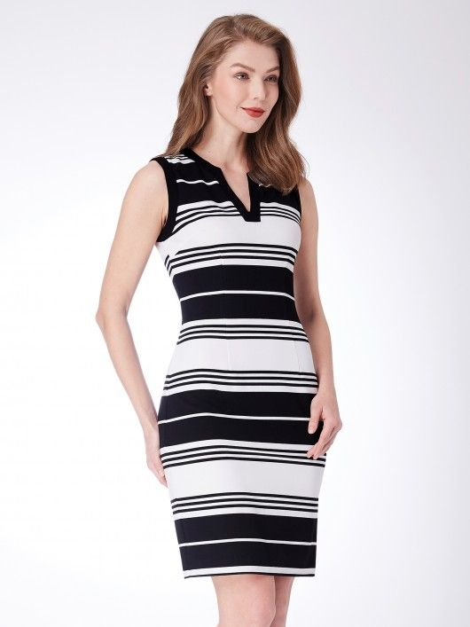 Alisa Pan Striped Sheath Dress  casualdress  everprettycom  EverPretty 0ebb25ea5