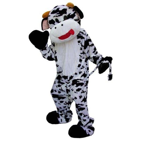 Meuuuhh ! Un deguisement mascotte  de taille unique avec combinaison, tête et chaussons.