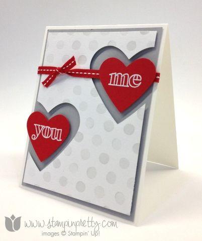 STAMPIN innombrables énonciations Idées de cartes 1 2 Saint Valentin Framelits Cardiaques timbres bricolage de Poinçon aquarelle Étonnant qu'il ...