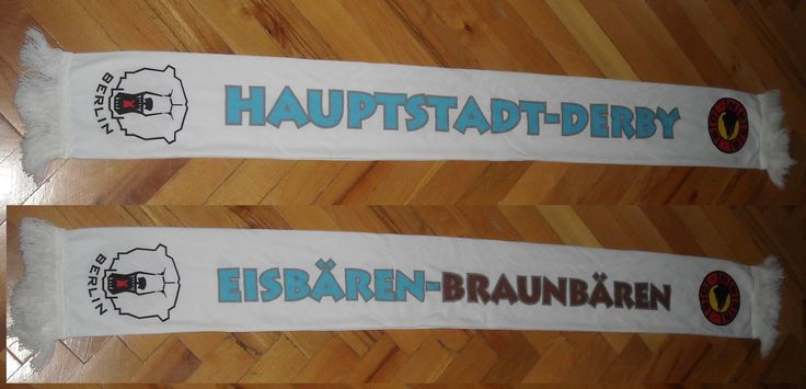 Eisbaren Berlin - SC Bern Scarf  You can Buy It from www.ScarvesForSale.eu