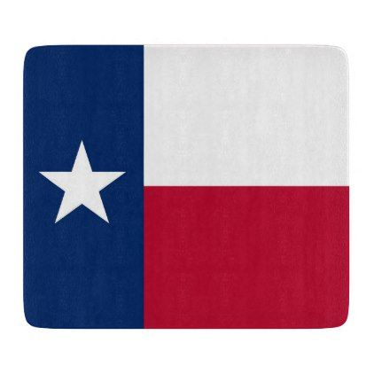 Small glass cutting board with Texas flag - home gifts ideas decor special unique custom individual customized individualized