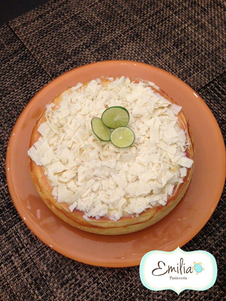 Cheesecake de chocolate blanco y limon