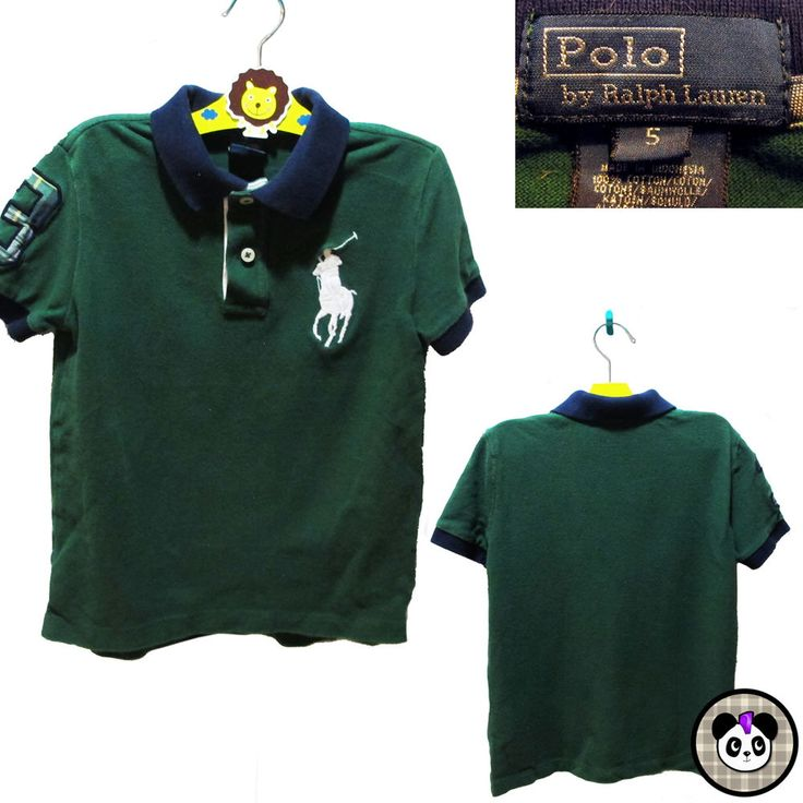Polo Ralph Lauren Boys Sz 5 Big Pony Rugby Shirt Collar Kids  #PoloRalphLauren #kids