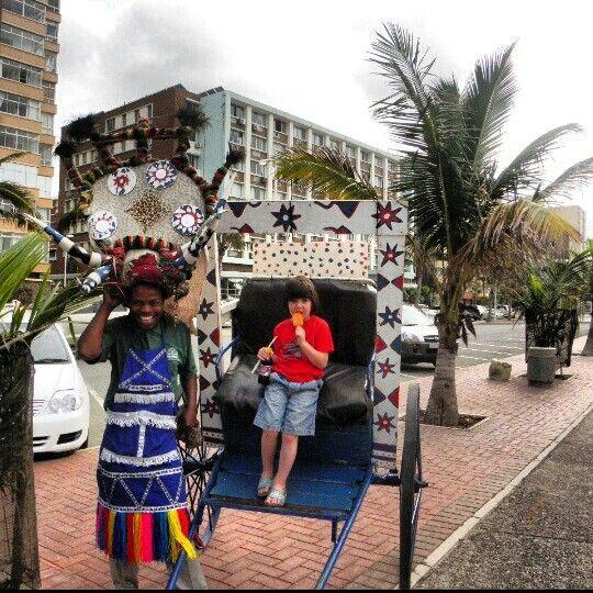 Durban rickshaws.