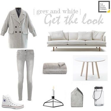 Grey and white | mood board | The Little Design Corner