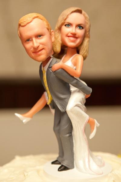 Custom Bobblehead Wedding Cake Topper