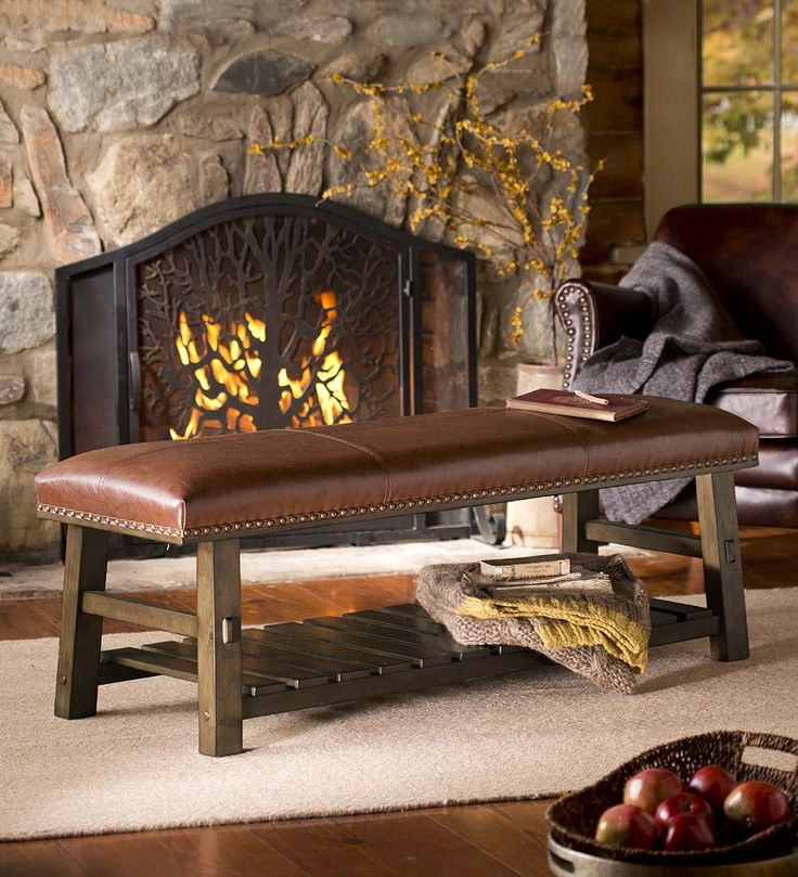 Canyon Leather Bench | Upholstered Furniture | Plow