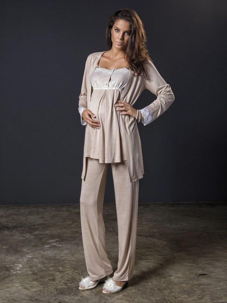 Bondy 17213Hamile 3 lü Pijama Takım; Penye kumaştan üretilen hamile 3 lü pijama takım modelidir.