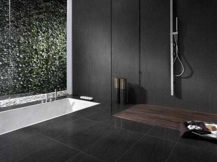 3 types of unique bathroom tile design with color black