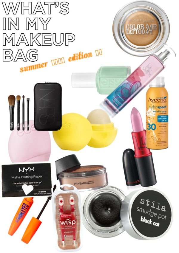 """""""What's in my makeup bag for summer"""" by stephiilynn52511 on Polyvore"""