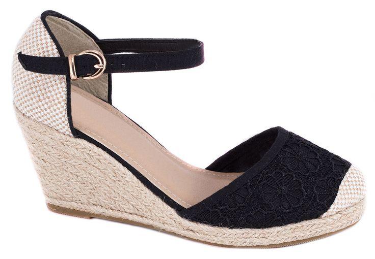 Sandale negre de dama TH-22N. Reducere 43%. Pret: 39.99 lei.