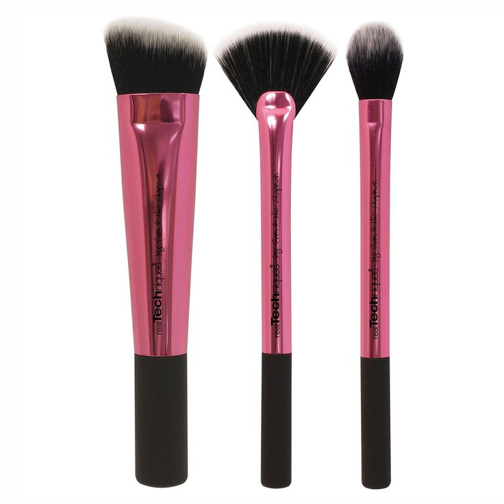 Real Techniques by Samantha Chapman, Collector's Edition, Sculpting Set, 3 Brushes