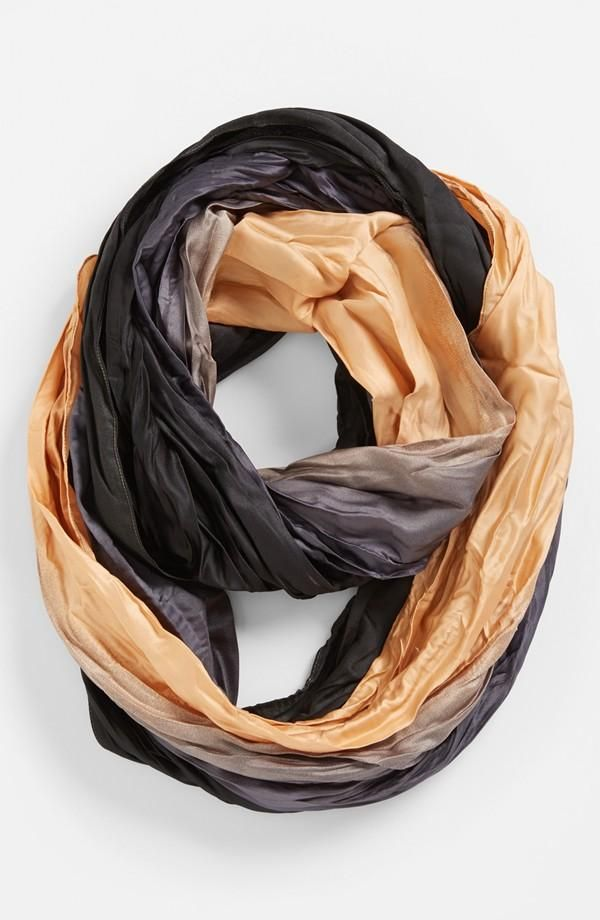 Go-to fall accessory? A gorgeous, ombre infinity scarf.