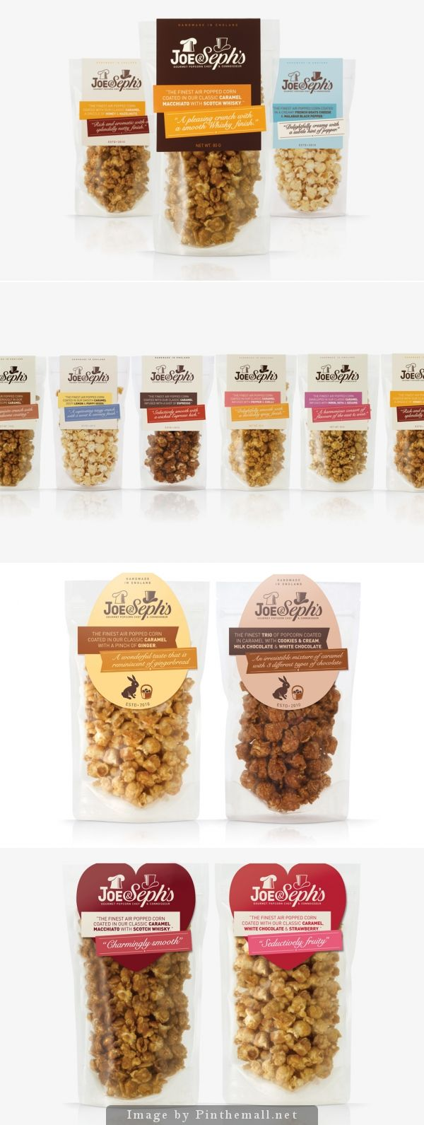 joe sephs-popcorn packaging