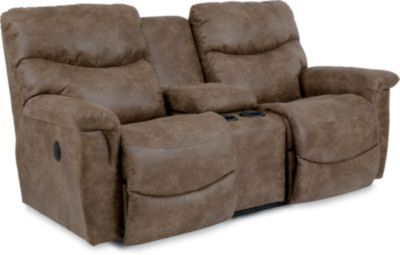 Check out what I found at La-Z-Boy! James PowerRecline La-Z-Time® Full Reclining Loveseat w/ Console