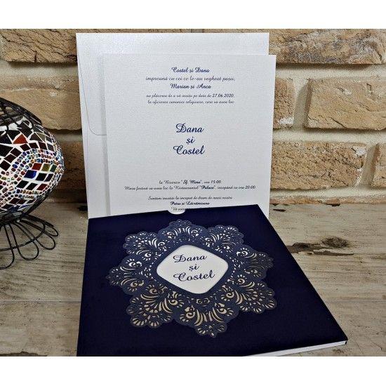 Invitatie Speciala Catifea Albastra Weddings în 2019 Wedding și