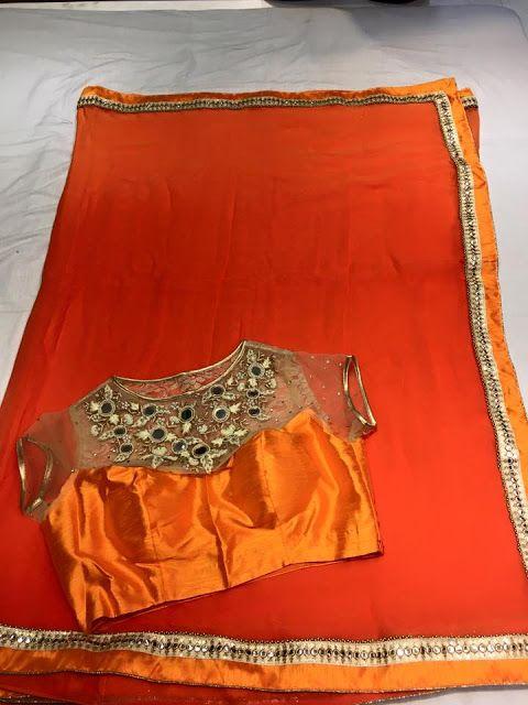 Latest chiffon fancy Saree Collection With Designer Blouse   Buy online Chiffon sarees   Elegant Fashion Wear