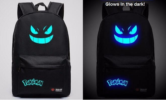 Pokemon Backpack - Gengar Luminous Backpack