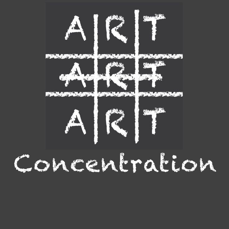 Art concentration chalkboard