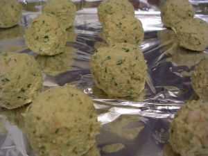 Baked Falafels - Wild Rose D-tox Really Easy to make, and quite yummy, especially with the Lemon Tahini Dressing I made to go with it.