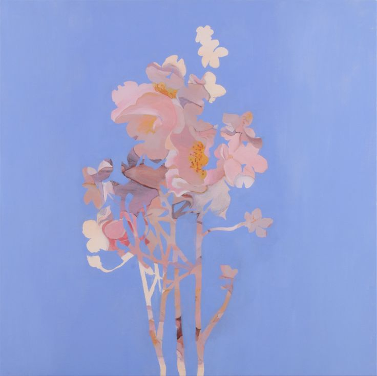 2014 Blotted out bloom, 100x100 cm, oil on canvas