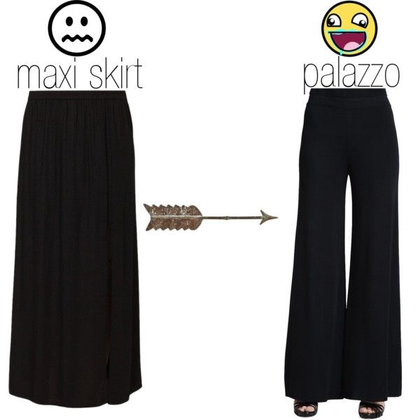 DIY palazzo pants by miss-reverie on Polyvore featuring Misook Collection, Vero Moda and diypalazzopants