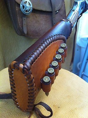 LEATHER GUN STOCK COVER/SHELL HOLDER WINCHESTER Marlin Rossi Big Boy