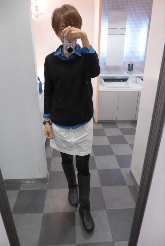 今日はたくさんユニクロアイテム使ってますよ。 Outer/UNIQLO Knit/UNIQLO Shirt/UNIQLO Bottom/JOURNAL STANDARD Bag/Claska Shose/KOOS 鮮やかなブルーと白と黒。 パキっとしたカラーリングにしました。