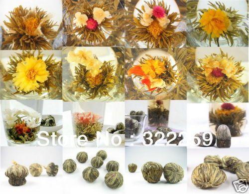 [ гринфилд ] 60 шт. различных видов китай фуцзянь цветущий цветок зеленый чай художественный ремесленник чай цветка цветения, 100% ручной работы 600 г