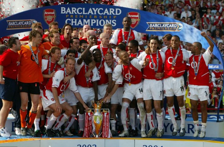 'The Invincibles' go 49 games unbeaten  Played 49, Won 36, Drawn 13, Lost None. The Arsenal squad which set a new unbeaten league record between May 2003 and October 2004 will live long in the memory and forever in the history books.