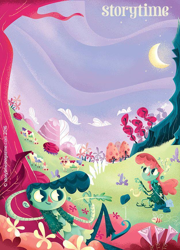 Green children? Find out more about them in a strange-but-true story in Storytime 26. Art by Leandro Lassmar (https://www.behance.net/lassmar) ~ STORYTIMEMAGAZINE.COM