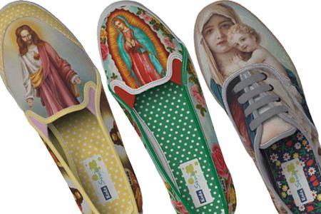 Crucifix shoes #kitsch #religiouskitsch