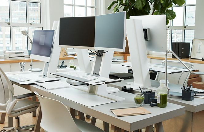 Humanscale's QuickStand Workstation - the sit/stand solution for the active workplace