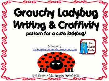 Writing prompt and craftivity to go with Eric Carle's The Grouchy Ladybug. Includes: Ladybug paper craft patterns Planning page 2 writing pages