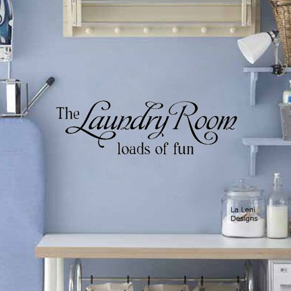 Laundry Room Decal Laundry Room Wall Decal Vinyl by LaLeniDecals
